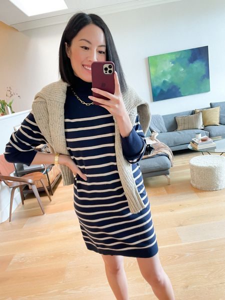 One cardigan, three ways! #ad Finally, I'm throwing the cardigan over my shoulders - they're the perfect match for these stripes! I'm wearing a small in both. #WalmartFashion  #LTKunder50 #LTKSeasonal #LTKstyletip