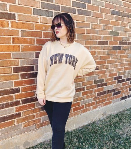 Who said a sweatshirt has to just be comfy? 😎  #LTKFall #LTKstyletip #LTKunder50