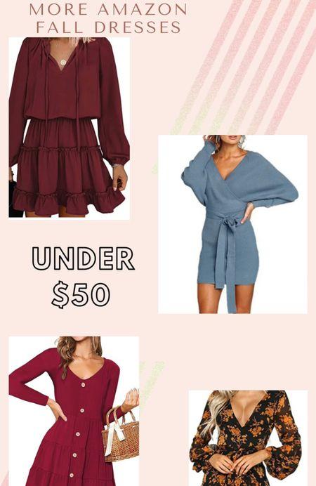 More amazon fall fav dresses 🍂  #LTKstyletip #LTKunder50 #LTKSeasonal