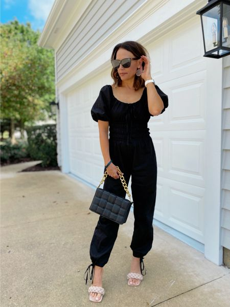 Not going to lie I wore this fabulous jumpsuit all weekend 🖤 In love yet again with my latest @nuuly pieces.  Friends you have to try this!!! Oh and how about the clutch from @walmart??!!  Happy Monday!  Details in our our profile ☝🏻and here 👇🏻    #LTKunder100 #LTKshoecrush #LTKfit