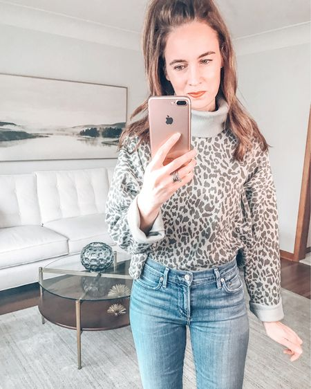 Happy Tuesday!  This cute green leopard sweatshirt is on sale for only $15 - and it is available in all sizes. . . SHOP MY LOOK: 1️⃣ Use this link: http://liketk.it/3bHAq  2️⃣ Download and follow me (@dailystylefinds) on the FREE @liketoknow.it app 3️⃣ Screenshot this photo 4️⃣ Click the link in my profile . . #styleover40 #fashionmoment #mystylediary #fashiondaily #stylebyme #stylefiles #over40blogger #styletrends #whatstrending #whatiworetoday #whowhatwearing #styleadvice #getthelook #ontrend #styleinfluencer #everydaystyle #todaysoutfit #sweatshirt #cozysweatshirt #aexme #liketkit