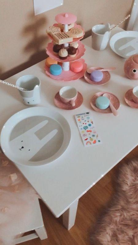 Girls Tea Party theme. Kids Dishes. Play food. Tea set. Porcelain dishes for kids. Girls Decor.  xo, Michelle   #LTKunder50 #LTKhome #LTKkids