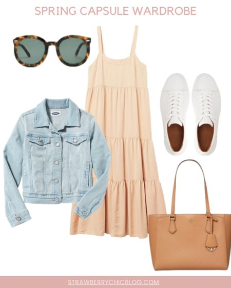 For a casual spring look pair this amazon find dress with a denim jacket and white sneakers. http://liketk.it/3bZ1H #liketkit @liketoknow.it