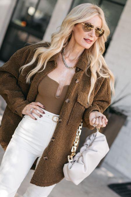 The coziest shirt jacket perfect for fall! It runs tts, I'm wearing an XS.   #LTKSeasonal #LTKstyletip #LTKunder100