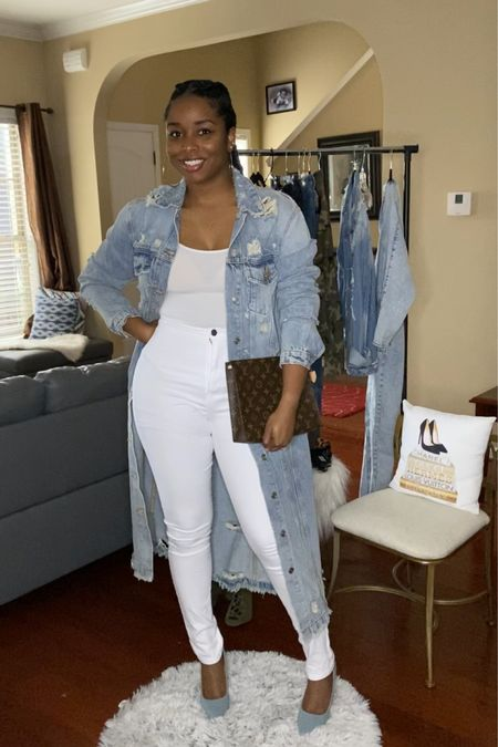 Denim Trench outfit http://liketk.it/2LPmb #liketkit @liketoknow.it