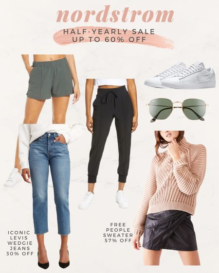 Nordstrom Half Yearly sale picks  Free people sweater  Levi's wedgie icon jeans  Zelle joggers Nike white sneakers   @liketoknow.it http://liketk.it/3gtlw #liketkit #LTKsalealert #LTKunder100 #LTKfit