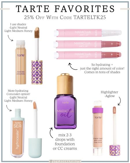 Tarte beauty is offering 25% off + free shipping with code TARTELTK25 // their shape tape concealer and lip balms are my favorite!   #LTKunder50 #LTKbeauty #LTKSale