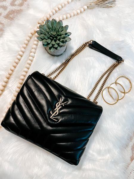 YSL bag, loulou bag, infinity bracelet, gold bracelet   #LTKitbag #LTKstyletip