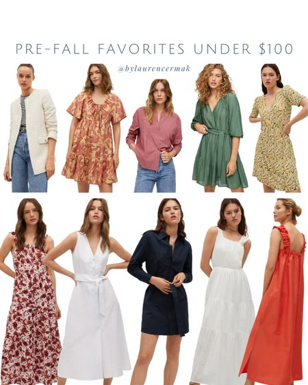 {Pre-Fall Favorites Under $100} Loving the richer colors coming back out! That green dress 😍 To shop, click the link in my profile or follow my shop on the @shop.LTK app to shop this post and get my exclusive app-only content!    #LTKunder50 #LTKunder100 #LTKstyletip
