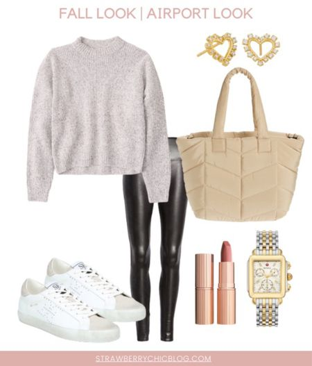 This fall airport look is the perfect comfort but still so cute!  #LTKunder100 #LTKtravel #LTKSeasonal