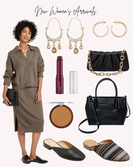 Target, women's clothing, women's shoes, earrings, handbags, fall, autumn, sweater, skirt, new beauty   #LTKunder50 #LTKshoecrush #LTKstyletip