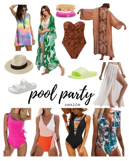 I wear a size xl in all of the swimsuits except the brown strapless, I wear a size L.  #amazonfinds #amazon #amazonstyle #summerstyle #poolstyle #beachwear #swimwear #swimsuit #vacationstyle #onepiece #coverup http://liketk.it/3jjNT #liketkit @liketoknow.it #LTKswim #LTKunder50 #LTKtravel