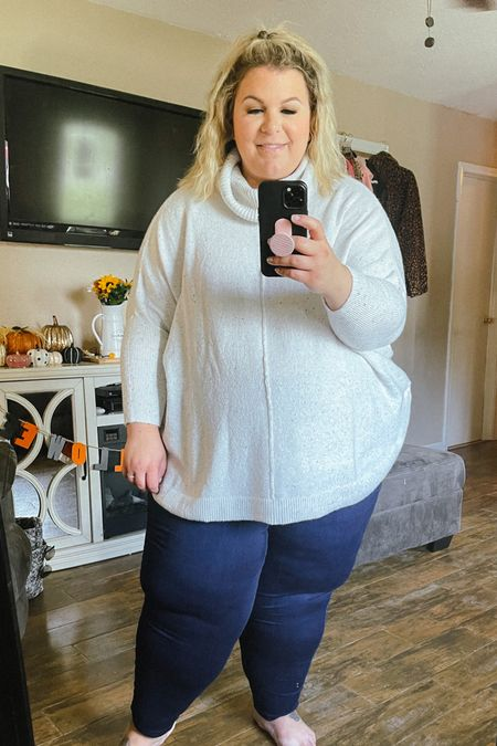 This cozy plus size sweater is perfect for a casual fall outfit or you can dress it up and make it a plus size workwear piece! This Walmart fashion find is amazing quality and so soft!   #LTKunder50 #LTKstyletip #LTKcurves