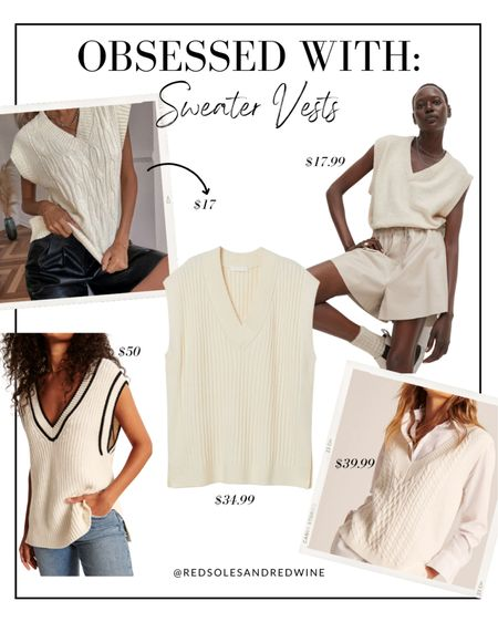 Affordable Sweater Vests, sweater vests for $50 and under, fall outfit ideas   #LTKSeasonal #LTKstyletip