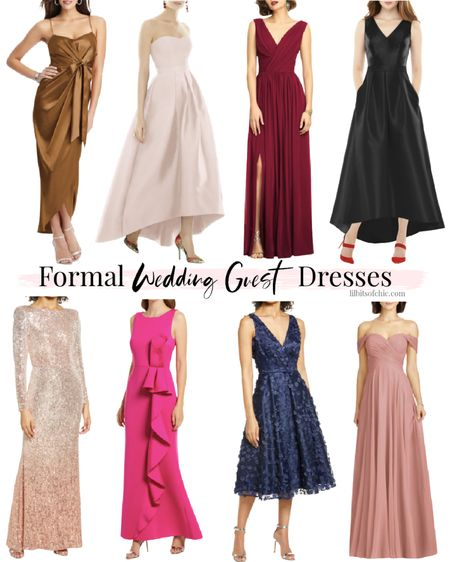 Formal wedding guest dresses, what to wear to a black tie event, formal Holiday party dress  #LTKwedding #LTKHoliday #LTKstyletip