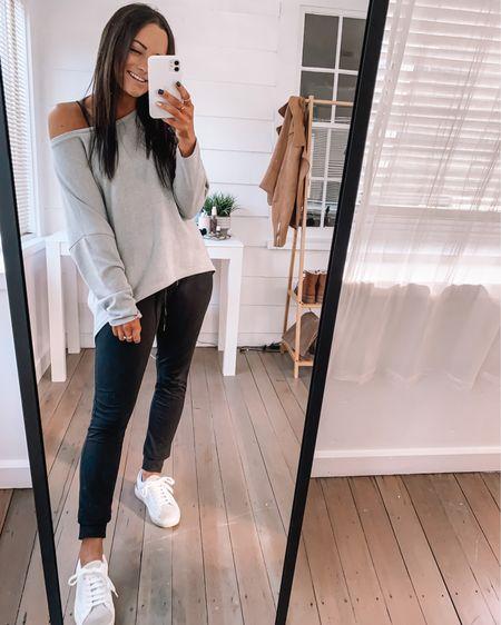 Amazon sneakers - sized down 1/2 a size  Amazon top - wearing a. S amazon joggers - wearing a S  amazon outfits amazon fashion Amazon finds #LTKfit #LTKunder50 #LTKstyletip http://liketk.it/3axFj #liketkit @liketoknow.it amazon athleisure outfits amazon joggers outfits