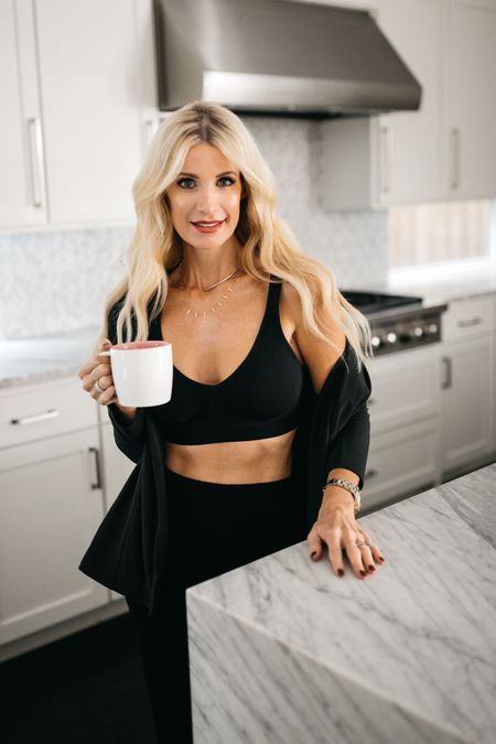 Cheers to Saturday morning! ☕️  I've finally found a bra that's as comfortable as it is sexy!  The soft, stretchy, and breathable fabric is seriously so comfortable you could sleep in it! It's wire-free yet provides plenty of support and it comes in 4 gorgeous colors!    I even wore it the other day under one of my over-sized blazers as a top and it was super chic!  It runs true to size, I'm wearing a size small.  Click the link in my bio to shop this chic and comfy bra. #jockey #ad    #LTKunder50 #LTKfit #LTKstyletip