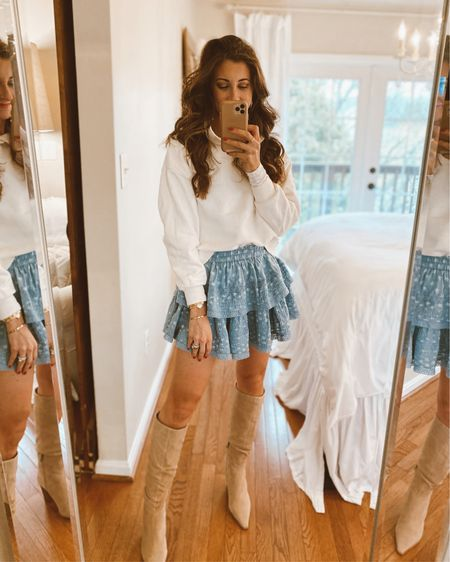 The aerie mini skirt I shared earlier this week styled for an outdoor bbq #liketkit @liketoknow.it http://liketk.it/3buRL
