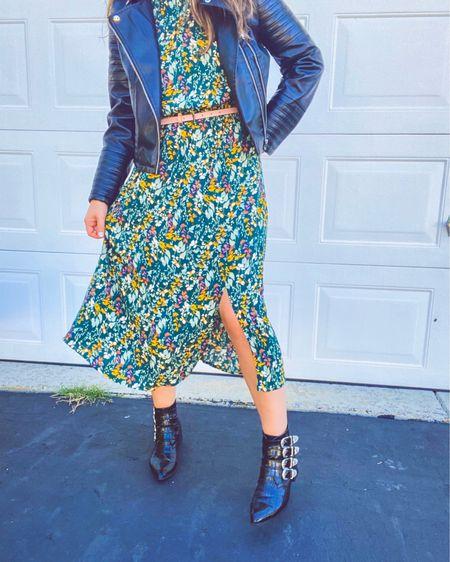 This dress +my fav boots+leather jacket 🤤🤤  Size 9 in the boots, medium in the dress. Both run TTS #LTKstyletip #LTKunder50 #LTKshoecrush  #liketkit @liketoknow.it http://liketk.it/2Vz0P