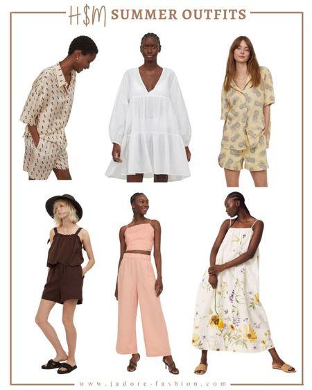 H&M summer picks! From dresses to matching sets under $100  #LTKunder50 #LTKunder100 #LTKsalealert
