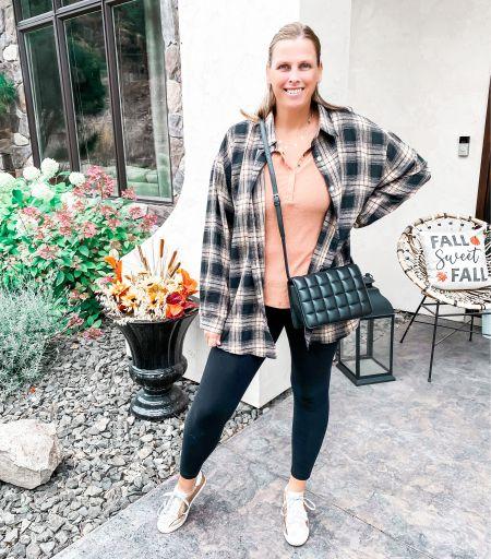 Fall outfit  #flannel #falloutfit #leggingsoutfit #shein  #LTKcurves #LTKstyletip #LTKSeasonal
