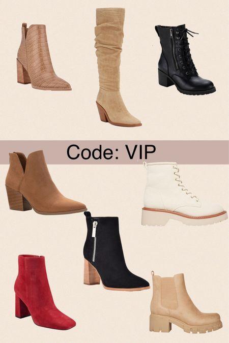 30% off the trendiest boots, booties and combats. Code : VIP   #LTKSeasonal #LTKshoecrush #LTKsalealert