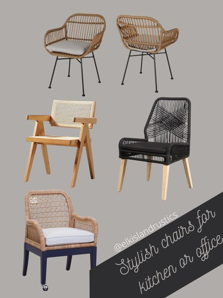 Stylish chairs for home office or kitchen   #LTKhome