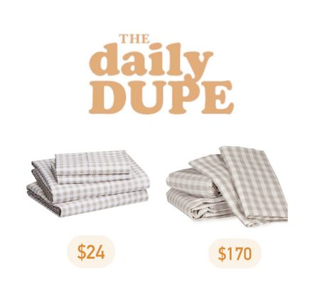 Gingham Sheets, Bedding, Save vs Splurge, Daily Dupe   #LTKhome