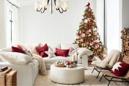 The image that stopped me in my tracks at Pottery Barn. This Christmas scene is the inspiration for my decor this year!   #LTKhome #LTKSeasonal #LTKHoliday