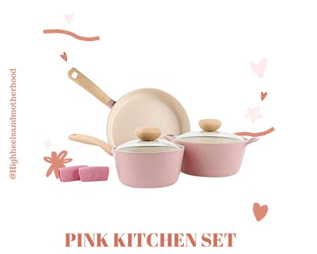 Another gorgeous pink kitchen set ! http://liketk.it/3gGGw #liketkit @liketoknow.it  @liketoknow.it.home Shop your screenshot of this pic with the LIKEtoKNOW.it shopping app