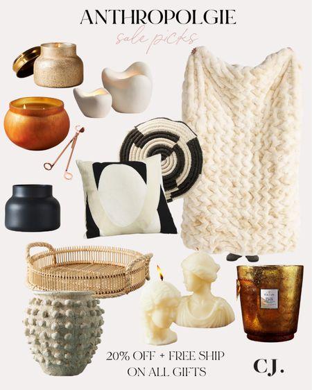 Anthropologie sale on gifts, candles, throw blankets   #LTKsalealert #LTKGiftGuide