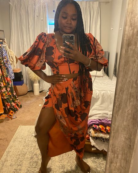 #ASOS always comes through with high quality pieces. I'm in love with this two piece top and skirt.   #midsize #midsizefashion #LTKcurves #LTKunder100 #LTKwedding #liketkit @liketoknow.it http://liketk.it/3hBis