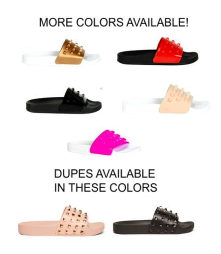 Designer Carmen Sol slides Metallic Jelly Super comfy! Lots of colors available! Steve Madden dupes available for $40!!