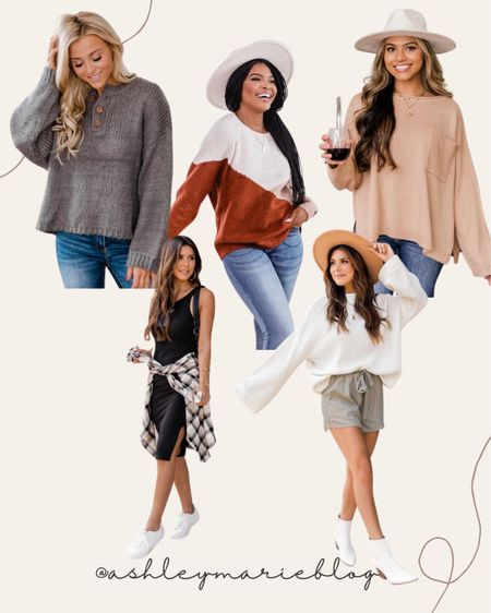 Fall must have sweaters from pink lily boutique. Wear these to your fall family photos  #LTKstyletip #LTKunder100 #LTKSale