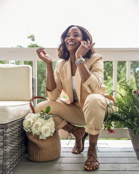 """What is your summer vibe? Mine is laid-back and elevated and I am loving it! Now that we can get outside and socialize safely, I am dressing up for every occasion, and that includes casual outings. @jcrew 's new summer collection is totally my vibe right now, hence I have partnered with the brand to share some of my favorite pieces from the collection. Guys, when I tell you that the new summer collection is everything, I am not kidding. Suits, summer dresses, eyelet pieces, crop tops and matching skirts, name it they got it! Which outfit is your vibe this summer? Shop all the outfits on jcrew.com. You can also get shopping links to all 3 outfits on the """"Shop my Instagram"""" page on awedbymonica.com #increw AD   @liketoknow.it http://liketk.it/3i8of  #liketkit #LTKunder100"""