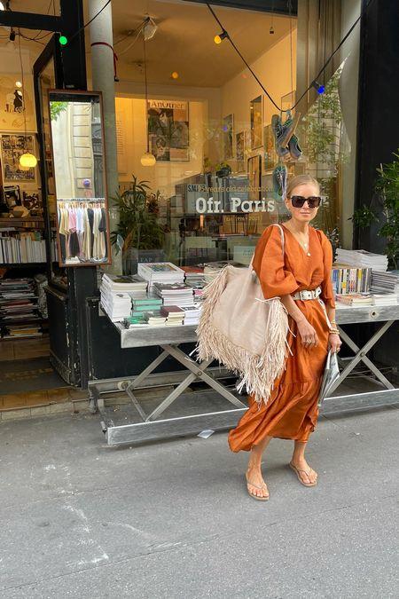 The summer dress #summerdress #maxidress #shoes #golddress #bottegavenetasunglasses #sunglasses #ootd #summerbag #mangosummerbag   #LTKunder100 #LTKunder50 #LTKeurope