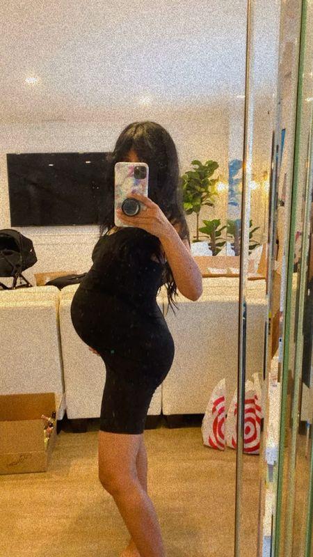 Biker shorts romper. 36 weeks pregnant 9 months   #LTKbump #LTKunder100 #LTKstyletip