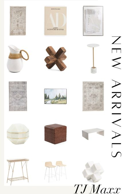 So many home decor finds and new arrivals at tj Maxx right now! Affordable home decor   #LTKhome
