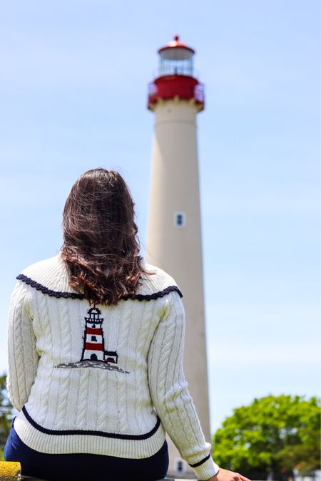 You can find me at the closest lighthouse♥️  ••• ••• I'm obsessed with this sweater - it is absolutely perfect for the 4th🎇 I have it linked in my @shop.ltk which you can find linked in my bio👍🏼  http://liketk.it/3irPf #liketkit @liketoknow.it #LTKtravel