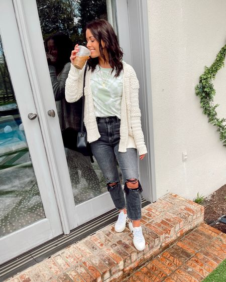 will drink iced coffee always, even when it is cold & rainy😁💁🏽♀️ I hope everyone is having a FANTASTIC weekend so far! // I've been loving green lately + this subtle green tie-dye tee I just snagged is so freaking cute🤍💚 make sure to follow me on the LIKEtoKNOW.it app for all links! http://liketk.it/3dLd3 @liketoknow.it #liketkit #LTKunder50 #LTKstyletip #LTKsalealert #LTKspring #vejasneakers #everydaymadewell #kyblogger