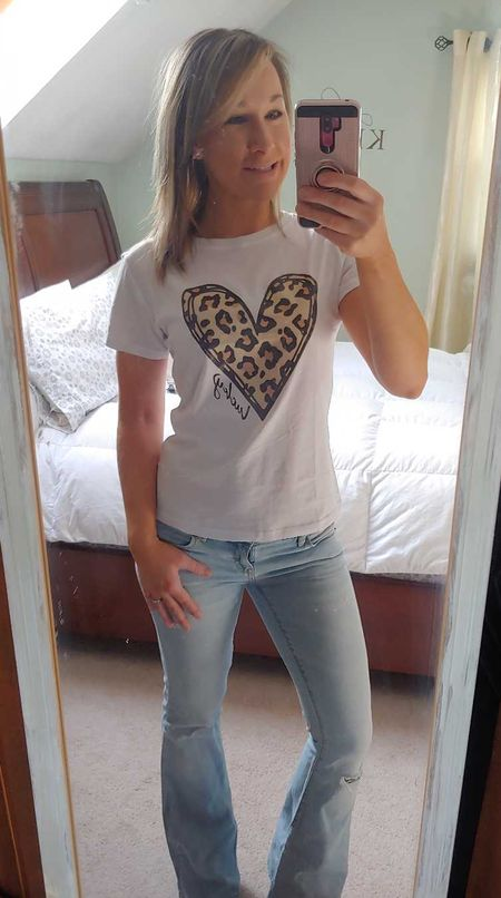 Love this leopard heart tee! Perfect for Valentines day and St. Patty's day!  #LTKVDay #StayHomeWithLTK #LTKunder50