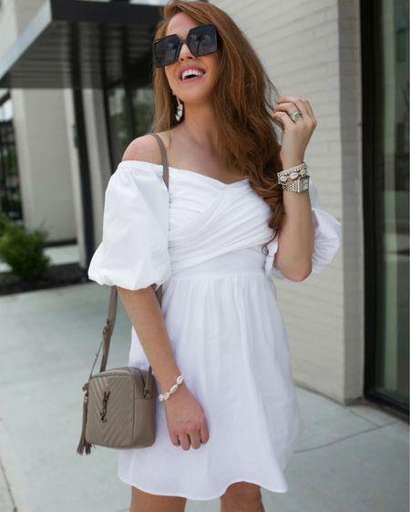 white dress on sale (wearing XS) bracelets are buy one get one free  @liketoknow.it #liketkit http://liketk.it/3hkL7 #LTKDay #LTKunder50 #LTKsalealert