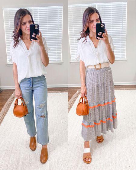 Shop the Mint julep boutique haul + ways to wear // off white blouse (tts) http://liketk.it/3hPN6  #liketkit @liketoknow.it #LTKstyletip #LTKunder50