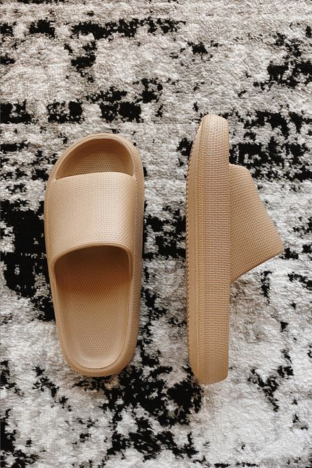 The coziest slide on sandals EVER: These sandals give a Yeezy vibe and are insanely comfortable.  I took a size 9-9.5 and am a 8.5-9 for TTS.   #LTKunder50 #LTKshoecrush #LTKstyletip