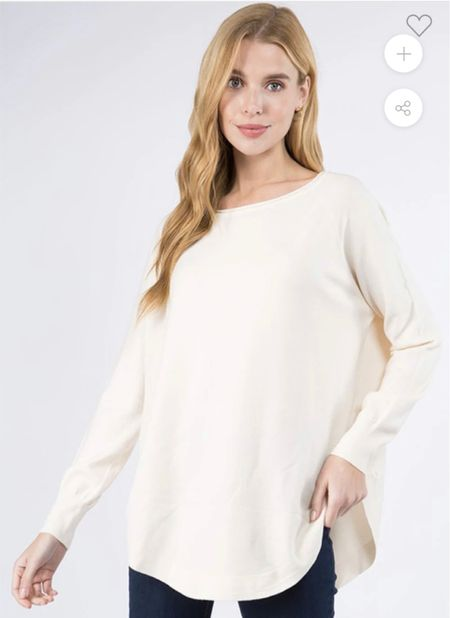 The perfect and softest Tunic  to wear with leggings! Comes in 5 colors.. Size s/m and M/l I have in Carmel, black and just ordered cream. I wear the m/l YOU will love and want in every color! 🍁🍂 I wear with my Spanx leggings🖤 Makes for a great gift!🎁 . .    #LTKGiftGuide #LTKstyletip #LTKunder50