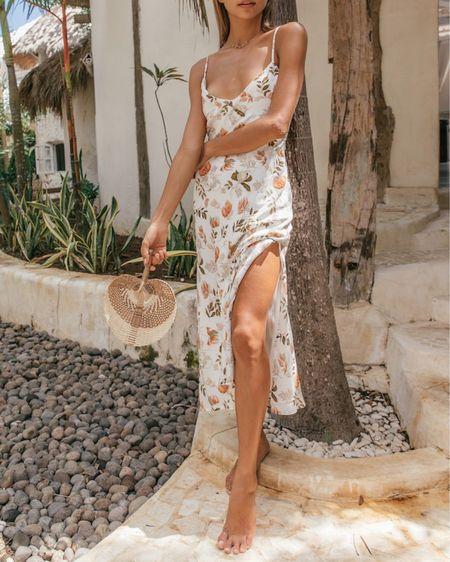 summer dresses, midi dress, slit dress, summer outfit, wedding guest dress, spring outfit http://liketk.it/3hStM @liketoknow.it #liketkit #LTKunder100 #LTKstyletip #LTKwedding