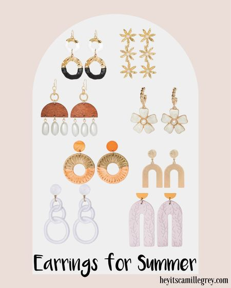 Earrings for summer! Rattan, flowers, leather, mixed metals. I need them all! Such an easy way to add dimension and color to a simple outfit. All from Target  http://liketk.it/3fJkJ #liketkit @liketoknow.it #LTKunder50 #LTKunder100 #LTKstyletip