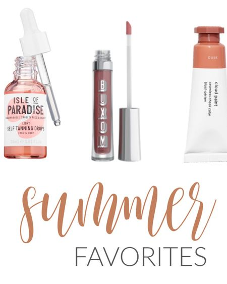 Summer beauty favorites! Buxom lipgloss in Dolly and cloud paint in Dusk are my favorite shades💗 http://liketk.it/2RyIl #liketkit @liketoknow.it