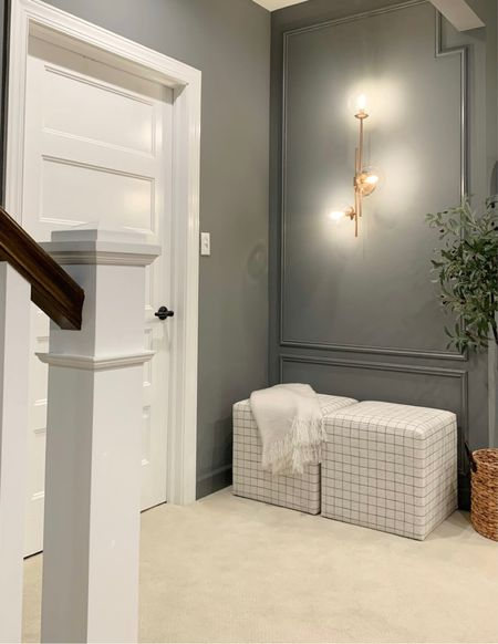 I'm in love with my most recent (tiny) makeover!! What a difference paint and trim makes in even the smallest spaces. I adore our moody basement walls. 😍😍 Check out all of the details and sources by clicking this photo in my profile link!    #LTKhome