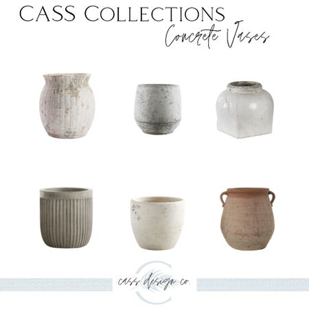 Concrete Vases Large planters Stoneware vase Terracotta vase  #LTKhome